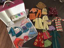 LOT of Skipper shoes, hats, clothes accessories in 1969 Mattel Skipper case