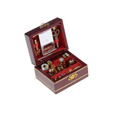 1SET 1:12 Scale Cute Dollhouse Miniature Filled Wooden Jewelry Box Case Toy