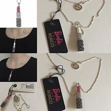 Rare Barbie Loves 💄 Charm Necklace Sterling Silver Jet Fuchsia Mimco dust bag