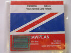 Shawplan/Extreme Etchings 4 mm Nameplate-Class 90 005bl 'Vice Admiral Nelson'.