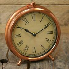 Sil Interiors Roman Numeral Pocket Watch Style Copper Mantlepiece Clock Retro