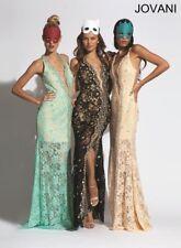 Jovani 92358 Nude Gala Gown Dress sz 4 NWT FLASH SALE!