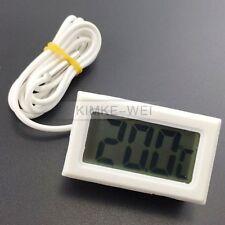 Mini Weiß Digital LCD Thermometer Temperatur Temperaturanzeige Tester mit Sensor