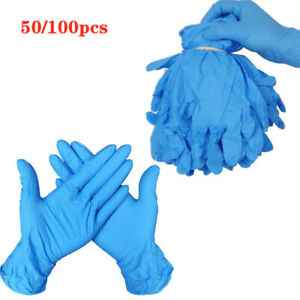Latex-Free Cleaning or Tattoo Applications Powder-Free Glove for Mechanics Automotive Case of 60 Units Disposable Nitrile Gloves