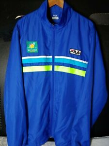 Men's BNP Paribas Tennis Open Sz XXL Royal Blue Jacket by FILA Windbreaker