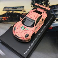 New 1/64 Spark Porsche 911 RSR Car model pink pig 2018 LeMans LMGTE Winner Y122