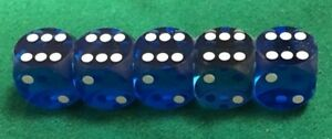 "5/8"" Blue Backgammon Dice"