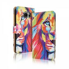 Etui Housse Clapet TPU - Samsung Galaxy A 5 ( 2016 ) - Motif Lion
