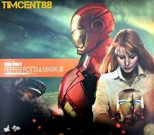 Ready! Hot Toys Iron Man 3 Pepper Potts & Mark 9 IX Set Normal Edition