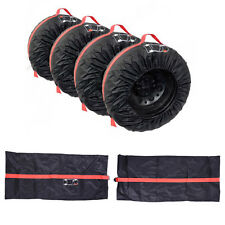 """4PCS Car Spare Tyre Cover Case Summer Winter Protector Tire Storage Bag 13""""-16"""""""