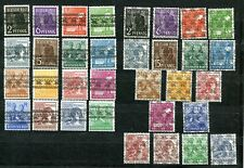 GERMANY AMERICAN BRITISH OCCUPATION 600-616 617-633 PERFECT MNH SETS (33 STAMPS)