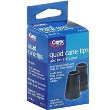 "4 Pack Carex Quad Cane Tips A717-11 5/8"" Canes 2 Count Each"