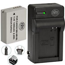 BM NB-10L Battery & Charger for Canon PowerShot G16, G1X, G3-X, SX40 HS, SX50 HS