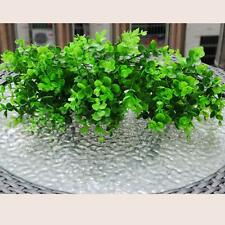 1pc 7-Branches Artificial Fake Plastic Eucalyptus Plant Flowers Lucky Leaf Decor