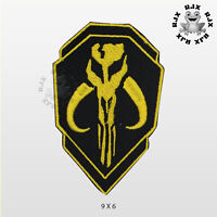 Mandalorian Double Shield Superhero Patch Iron On Patch Sew On Embroidered Patch