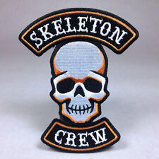 Hallows Eve Halloween Biker Patch: Skeleton Crew - Bat Witch Ghost Pumpkin Haunt