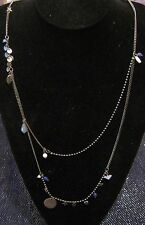 Lovely modern silver tone metal chain NEXT small beads charms stones 86-92 cm