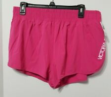 Victoria Secret SPORT Run Short Magenta Pink Built in Panty SZ Large NWT