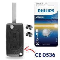 Boitier 2 boutons Clé de Télécommande pour Plip CITROEN C4 Picasso Berlingo C2