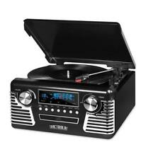Victrola Classic 50's Style Stereo w/ Modern 3-Speed Turntable INN-V50-200-BLK