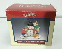 Lemax Dickensvale Collectibles Porcelain Finishing Touches SNOWMAN. Item 43115
