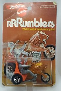 Vintage Hotwheels RRRUMBLERS CENTURION Orange Seat (silver fin rider) NMOC