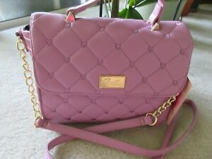 Luv Betsey By Betsey Johnson LBADDY Pink Quilted Crossbody Bag New With Tag