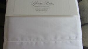 SFERRA Allegro SilkyQueen 600TC 100% Extra Long Staple Cotton Sateen $1080 White