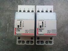 Contacteur  legrand 4 poles 20 amp NO bobine 230v