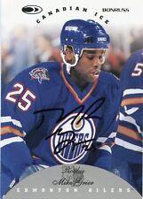 MIKE GRIER OILERS AUTOGRAPH AUTO 96-97 DONRUSS CANADIAN ICE ROOKIE #141 *31203