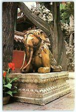 Postcard VTG China Peking Beijing Imperial Palace Bronze Elephant Statue A3