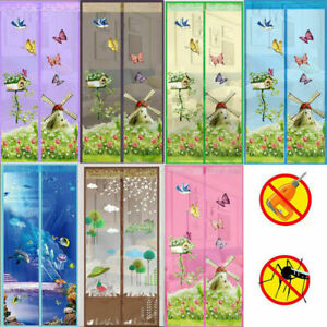 MAGNETIC AUTOMATIC CLOSING DOOR CURTAIN BUG INSECT FLY MOSQUITO SCREEN NET MESH