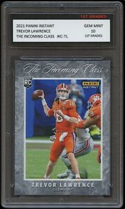 TREVOR LAWRENCE 2021 PANINI INSTANT INCOMING CLASS 1ST GRADED 10 ROOKIE CARD RC