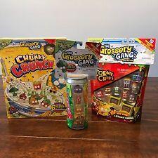 The GROSSERY GANG Season 1 Lot STICKY SODA Corny Chips CHUNKY CRUNCH Figures Set