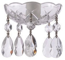 1 piece - 5 Holes - 4 Inches Crystal Chandelier Bobeche W/Silver Pin and T-Drop