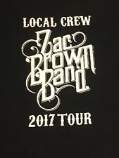Zac Brown 2017 Tour Local Crew T-shirt Size XL