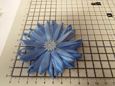 UK-Large,Baby  Blue- Satin Ribbon Flowers- Appliques,Trimmings ,Wedding 90mm x 1