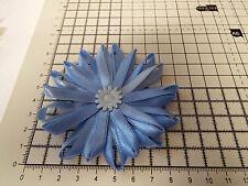 UK-grande, Bebé Azul-Cinta de Raso Flores-Apliques, Adornos, Boda 90mm X 1