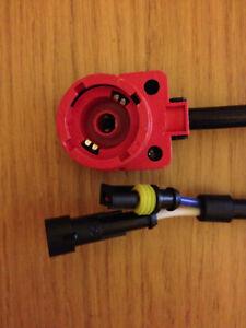 Pair   D2S D2R Series Xenon Hid Kit Bulb Ballast Connector wire Loom Plug