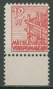 SBZ Mecklenburg-Vorpommern 1946 Abschiedsserie Kreidepapier 36 xa UR postfrisch