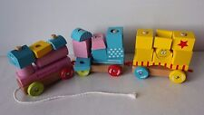 VILAC Train en bois BARBAPAPA cubes empilables -TBE-