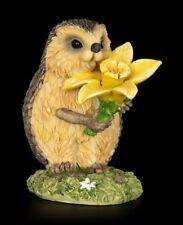 Lustige Igel Figur mit Narzisse - Glückwunsch - Deko Geschenk witzig