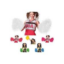 Girls Ladies Cheerleader POM POMS Majorette Dance USA Fancy Dress