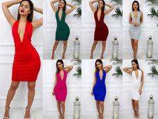 Backless Midi Machine Washable Dresses for Women