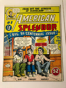 AMERICAN SPLENDOR #1 BY R. CRUMB HARVEY PEKAR 1976