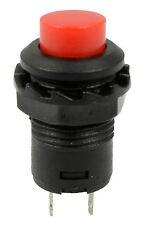 5 X Rojo apagado (on) momentáneo interruptor de botón Cuerno timbre coche DASH 12V