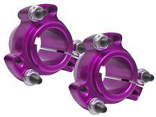 "(2) Purple 1"" Go Kart Drift Trike Racing Aluminum Rear Wheel Hubs w/Hardware New"
