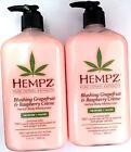 Lot of 2 Hempz Blushing Grapefruit  Raspberry Creme Herbal Moisturizer Lotion