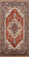 Geometric Indo Heriz Oriental Area Rug Hand-Knotted Wool Traditional Carpet 5x8