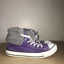 Converse Hi-Tops Size 5 Purple & White Converse All Stars
